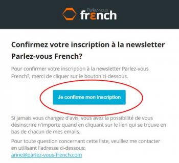 Capture email de confirmation