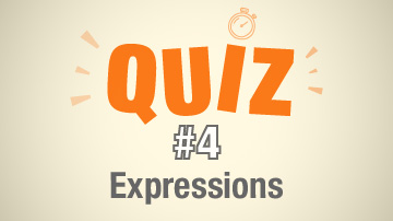 Quiz 4 - Les expressions françaises