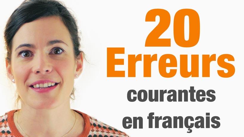 20 Erreurs Courantes en Français