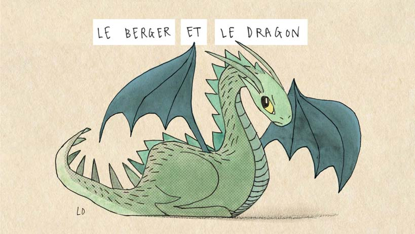 Le Berger et le Dragon illustration