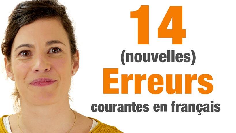 14 Erreurs Courantes En Français