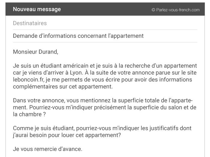 E-mail formel - Remerciement