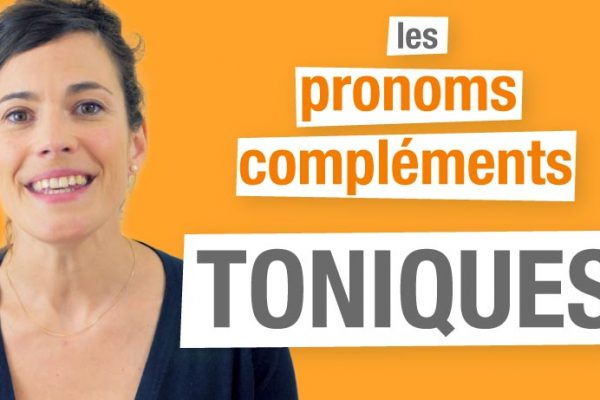 Les pronoms toniques compléments en français