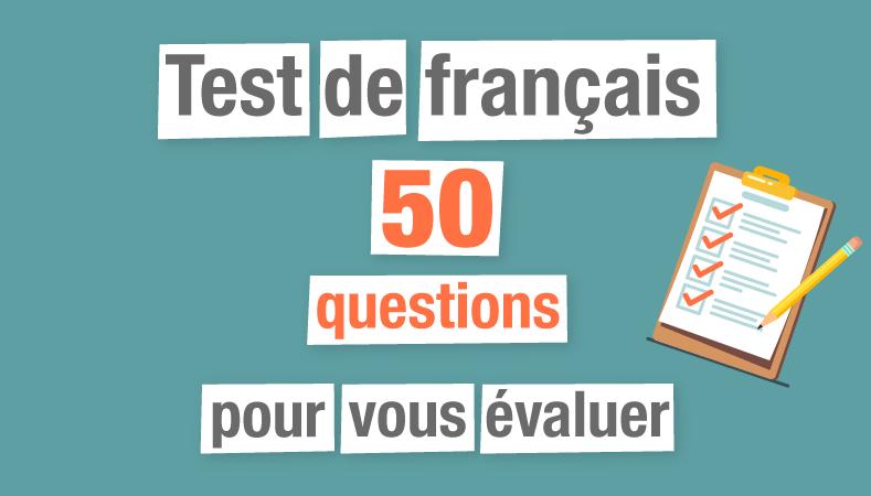 Test de français en 50 questions