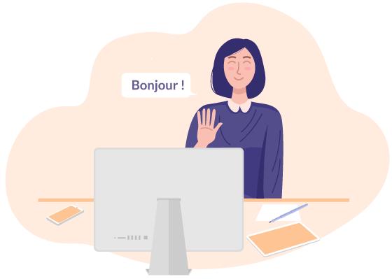 Apprendre le français sur Skype