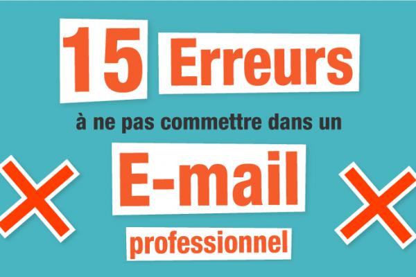 email professionnel - 15 erreurs à ne pa faire